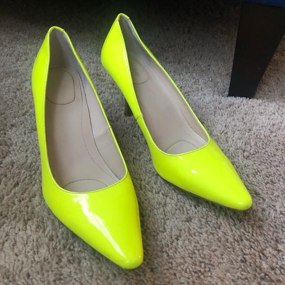 Calvin Klein Neon Yellow Heels